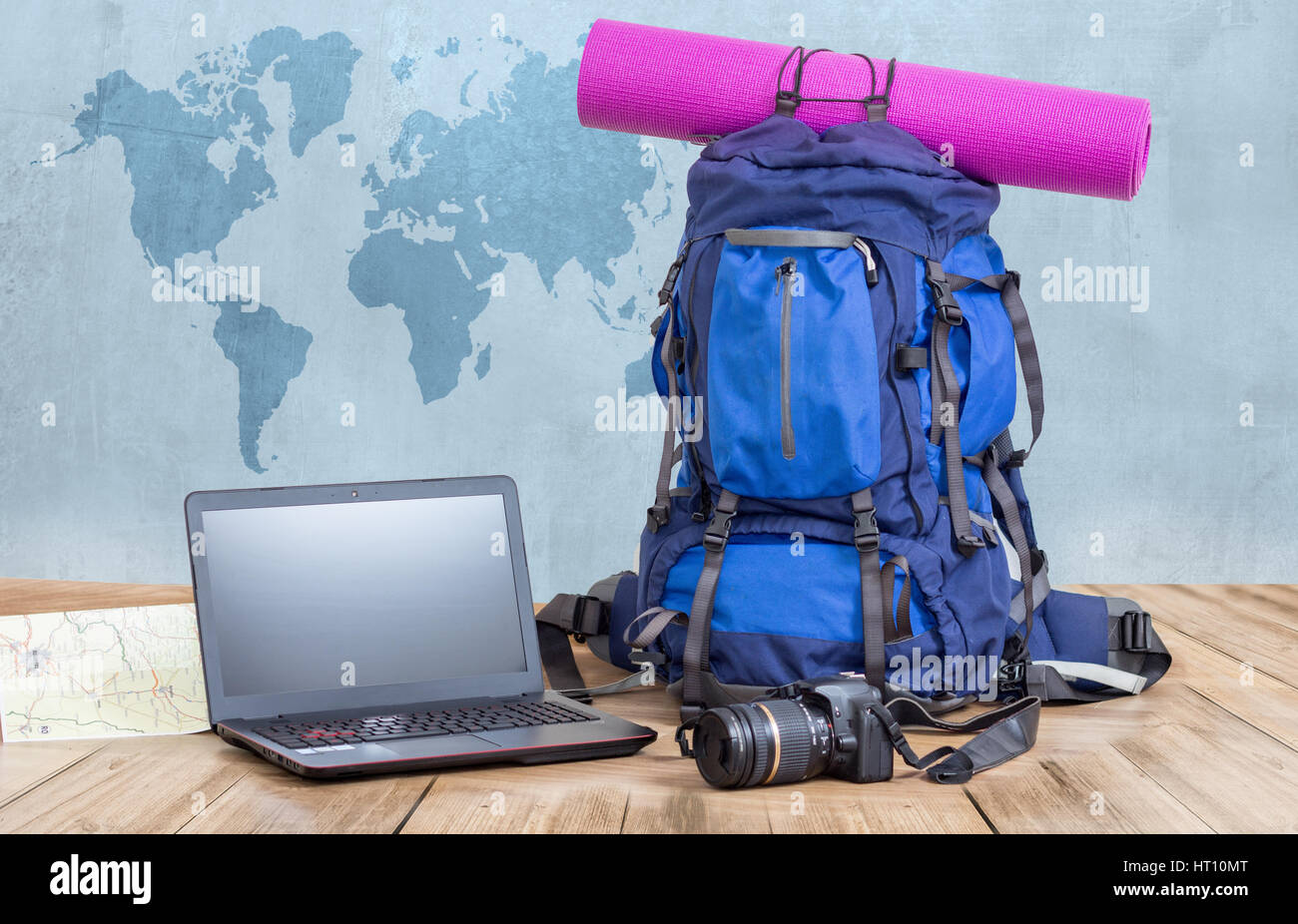 Blog di viaggio concetto Immagini Stock
