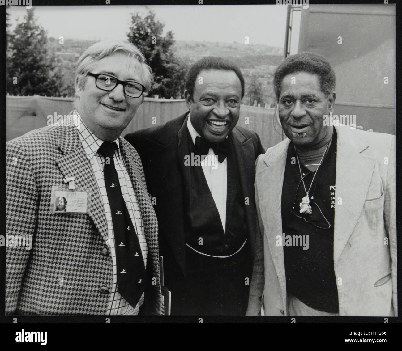 Dennis Matthews di Crescendo internazionale con Lionel Hampton e Dizzy Gillespie, Londra, 1979. Artista: Denis Williams Immagini Stock