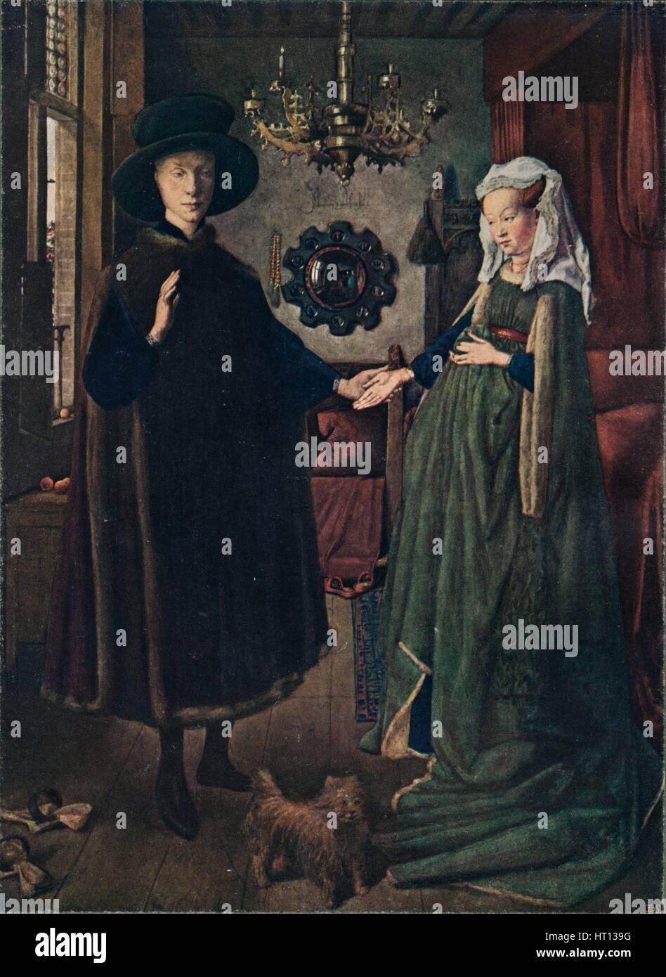 Il Ritratto di Arnolfini, 1434 (1904). Artista: Jan van Eyck Immagini Stock