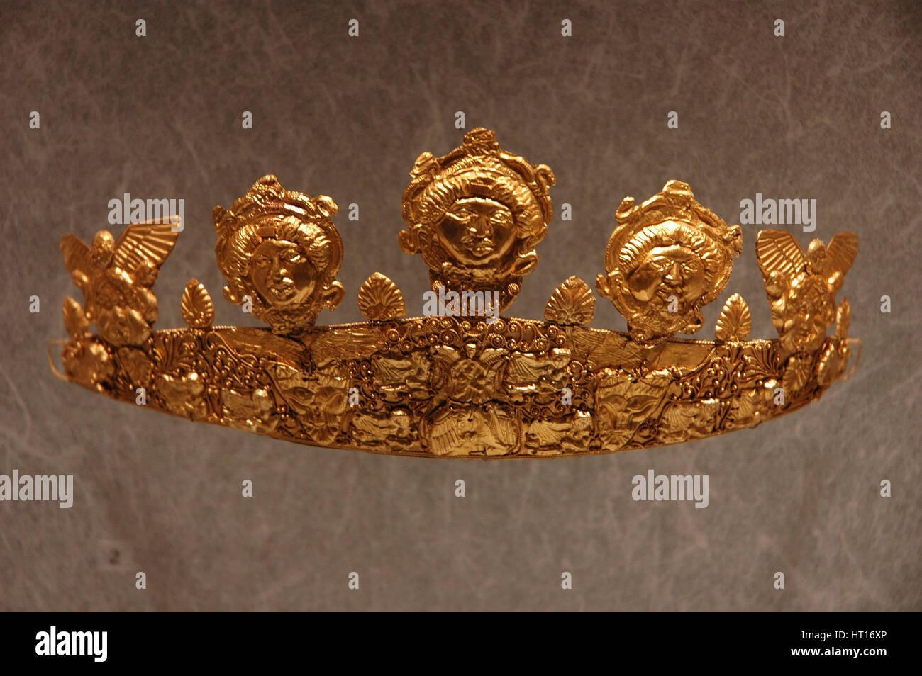 Corona d'oro. Cultura: Romano. Luogo di Origine: Roma linea di credito: Werner Forman Archive, N.J. Saunde Artista: Immagini Stock