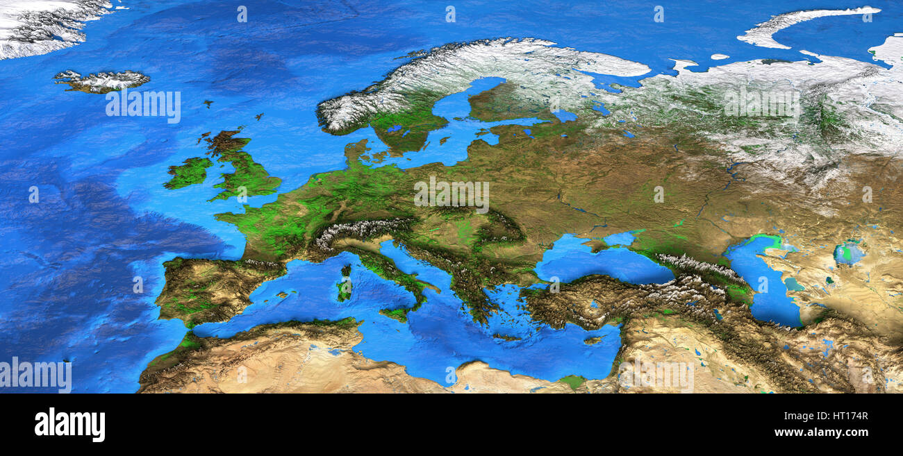 Cartina Europa Satellite.Vista Satellitare Immagini Vista Satellitare Fotos Stock Alamy