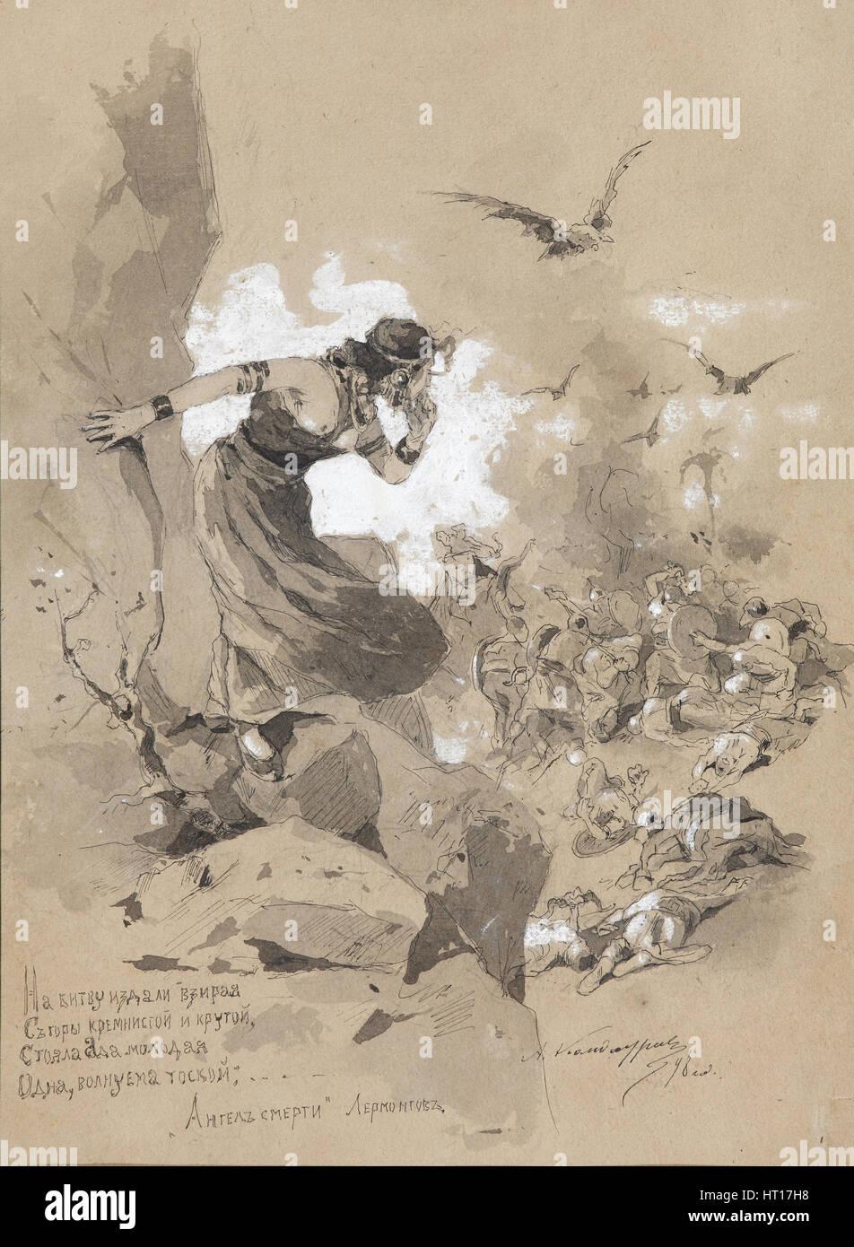 Illustrazione Del Poema L Angelo Della Morte Da M Lermontov 1898