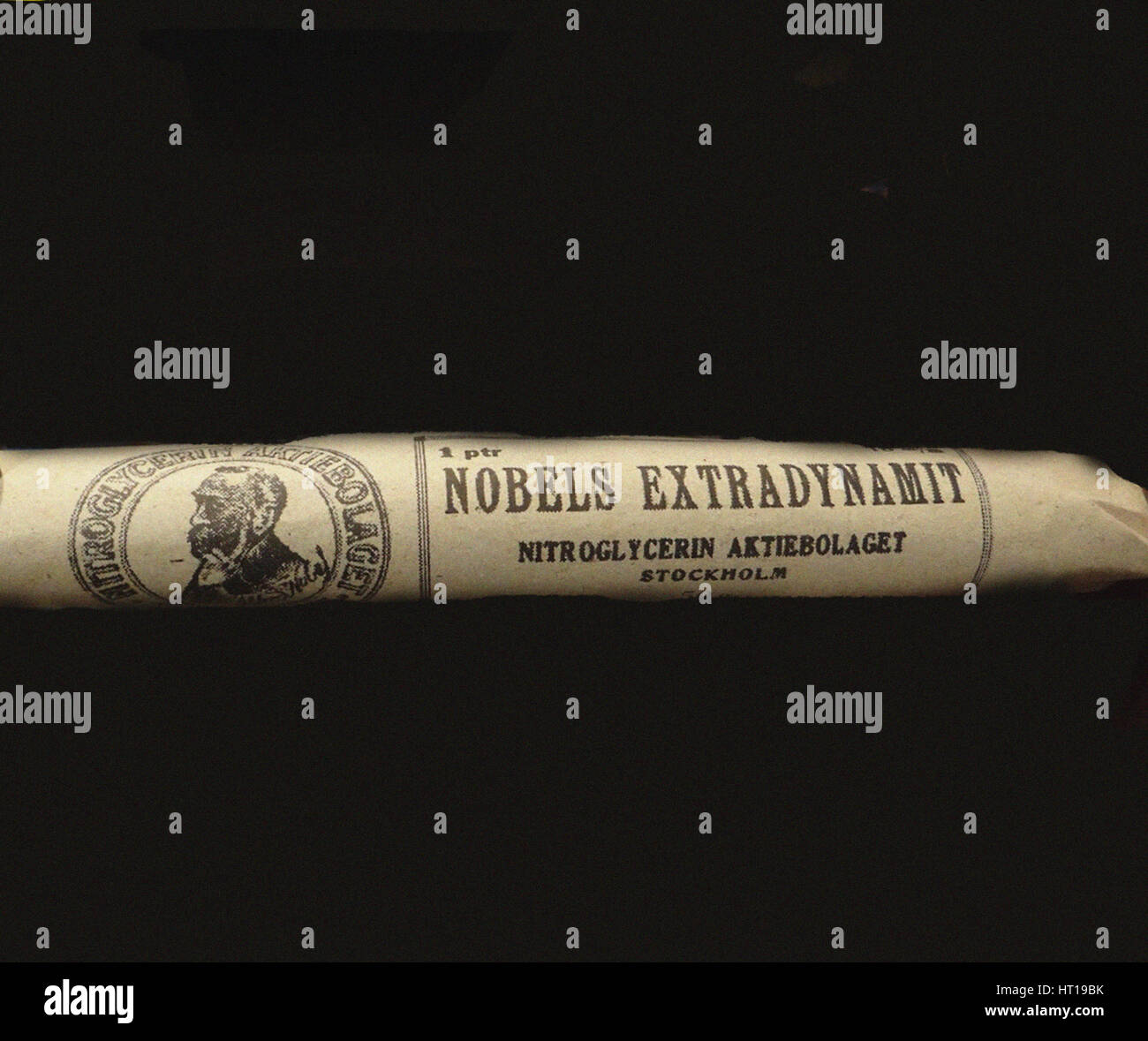 Il Nobel' Extradynamit. Artista: oggetto storico Immagini Stock