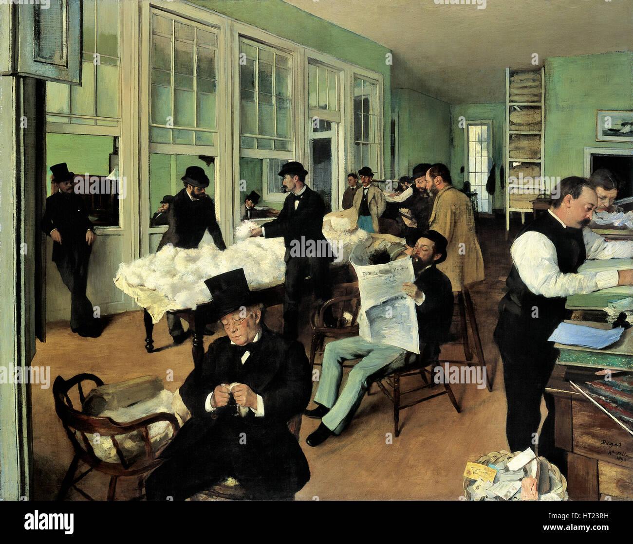 Un ufficio di cotone a New Orleans (Le Bureau de coton à La Nouvelle-Orléans), 1873. Artista: Degas Edgar (1834-1917) Foto Stock