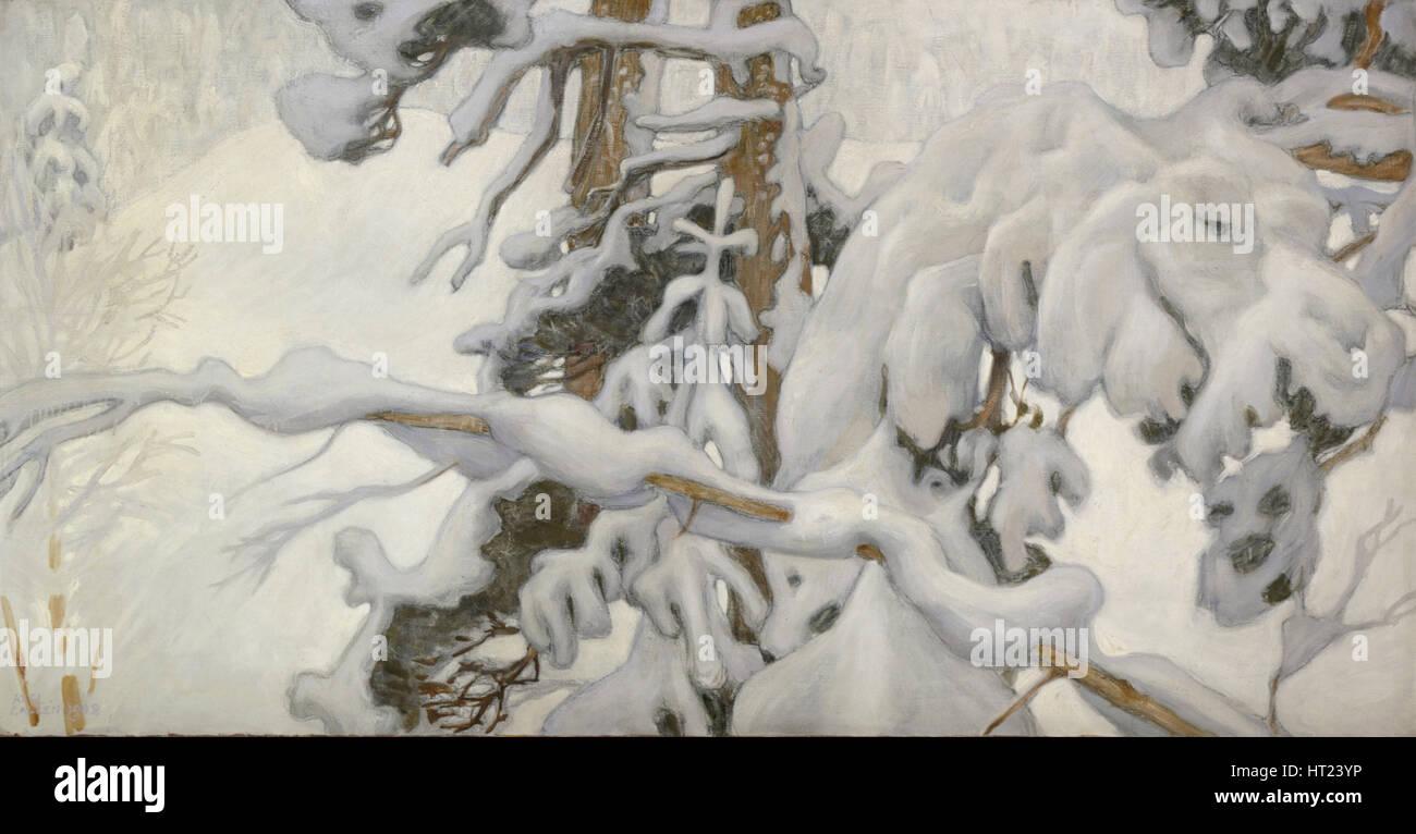 L'inverno 1902. Artista: Gallen-Kallela, Akseli (1865-1931) Immagini Stock
