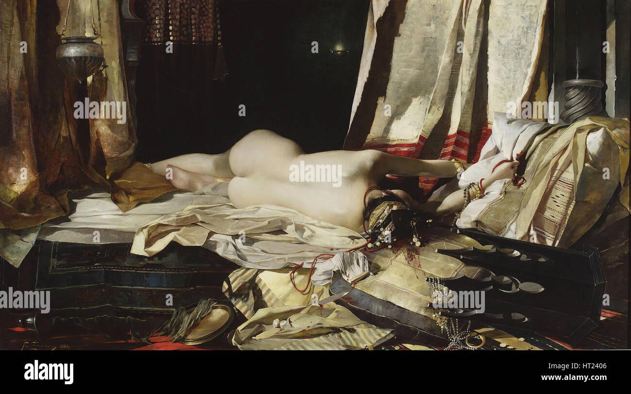 Per ordine del Padishah, 1888. Artista: Zmurko, Franciszek (1859-1910) Immagini Stock