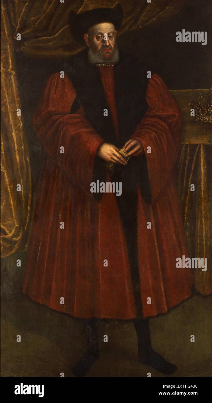 Ritratto di Sigismondo I di Polonia (1467-1548), del XVII secolo. Artista: Anonimo Foto Stock