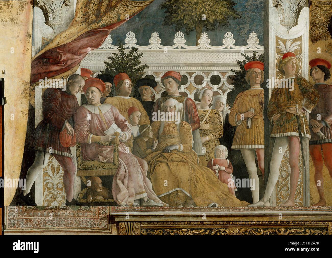Corte dei gonzaga affresco nella camera degli sposi nel for Mantova camera sposi