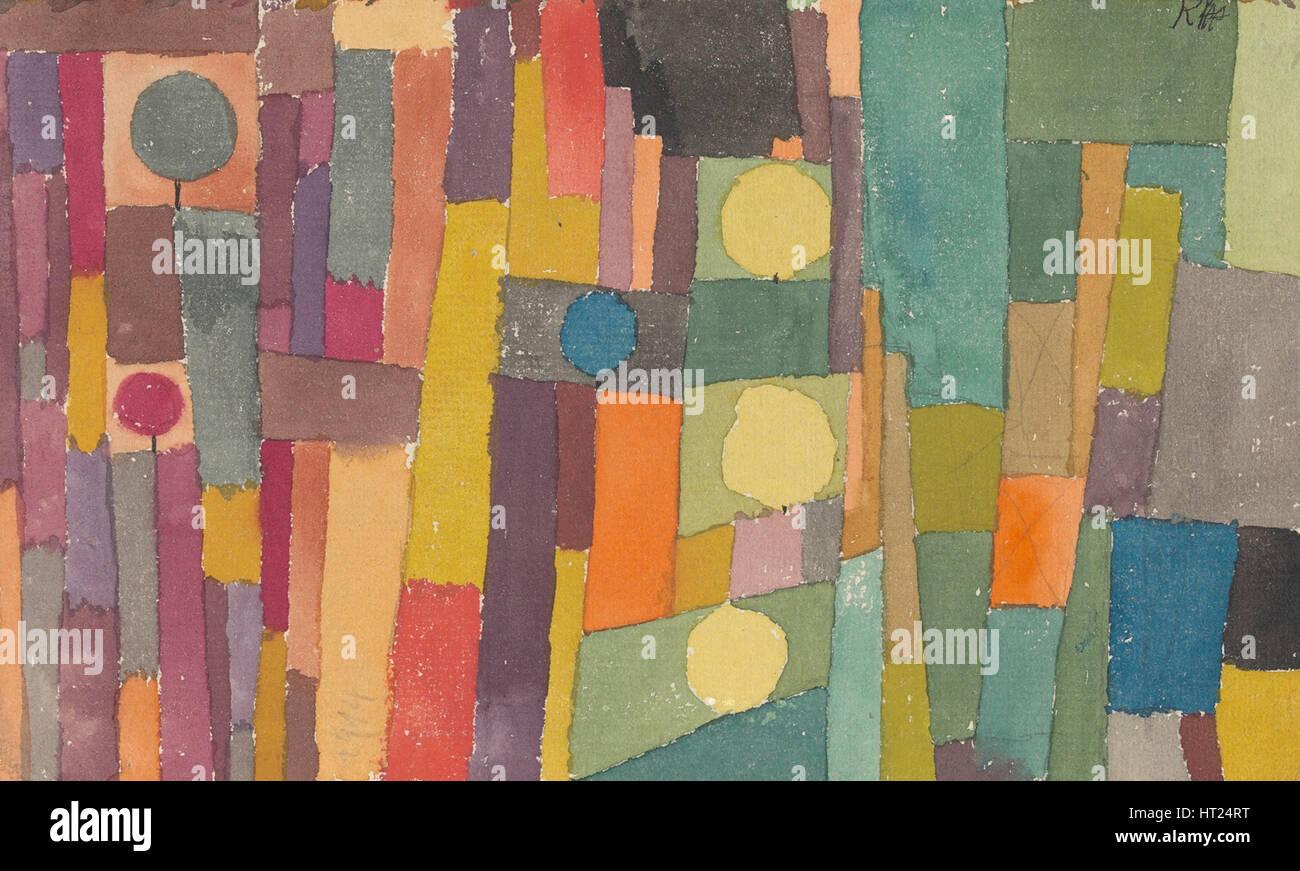 La fase 1931. Artista: Klee, Paolo (1879-1940) Immagini Stock