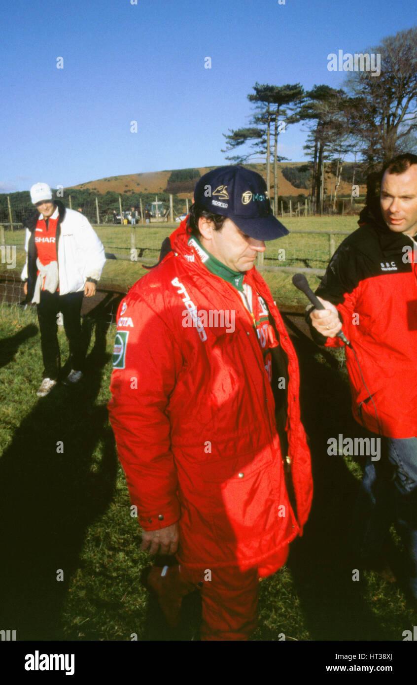 Carlos Sainz 1999 Network Q rally. Artista: sconosciuto. Immagini Stock