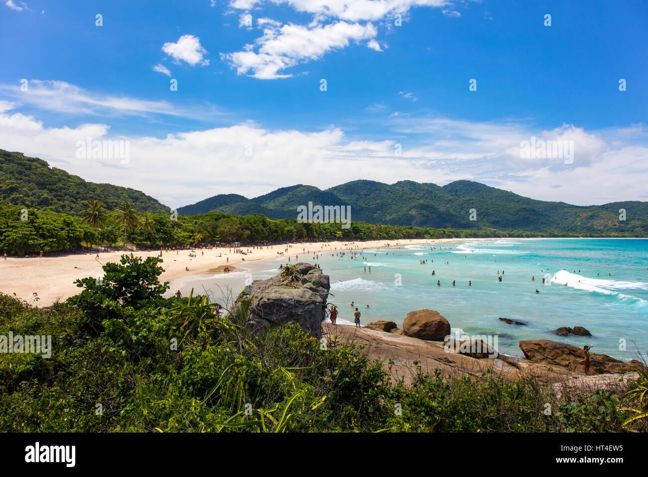 Lopes Mendes beach. Ilha Grande, RJ, Brasile. Immagini Stock