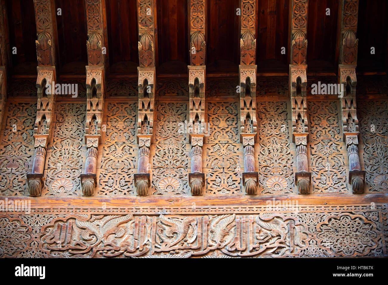 L Arabesco architettura delle Tombe Saadiane del XVI secolo mausoleo dei righelli Saadiane, Marrakech, Marocco Immagini Stock