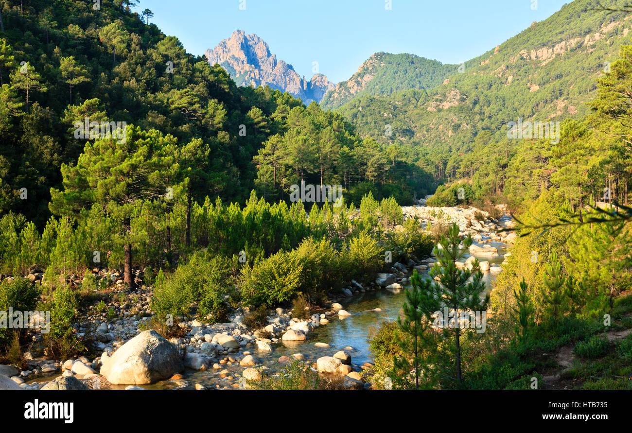 Montagne di Bavella, Corsica, Francia Immagini Stock