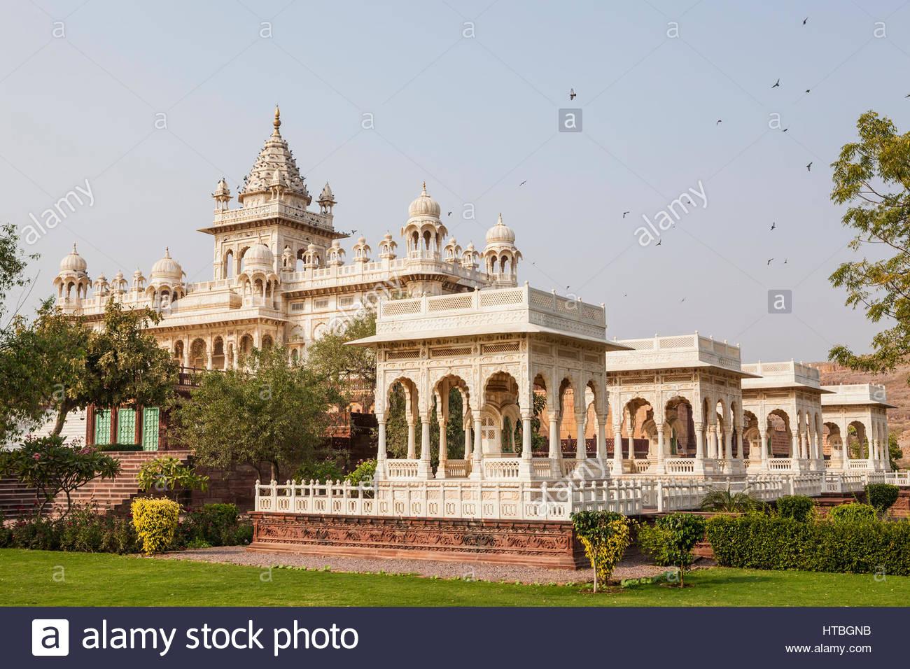 Jaswant Thada un monumento commemorativo e s in Jodhpur, Rajasthan, India. Immagini Stock
