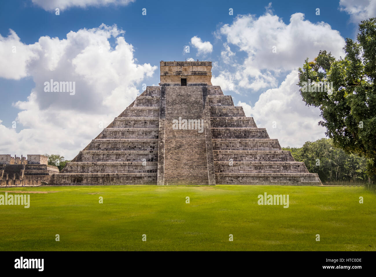 Tempio maya Piramide di Kukulkan - Chichen Itza, Yucatan, Messico Immagini Stock