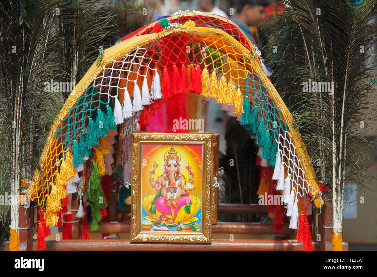 Singapore, Little India, shop, dio elefantino Ganesh immagine, Immagini Stock