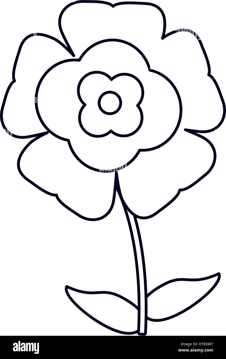 Fiore fiorire contorno naturale Immagini Stock