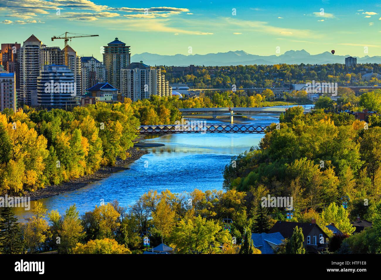 Downtown skyline di Calgary, Alberta Immagini Stock