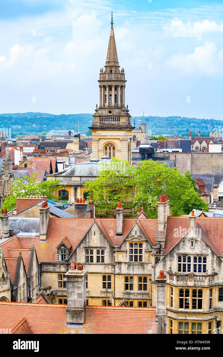 Paesaggio di Oxford. Oxfordshire, England, Regno Unito Immagini Stock