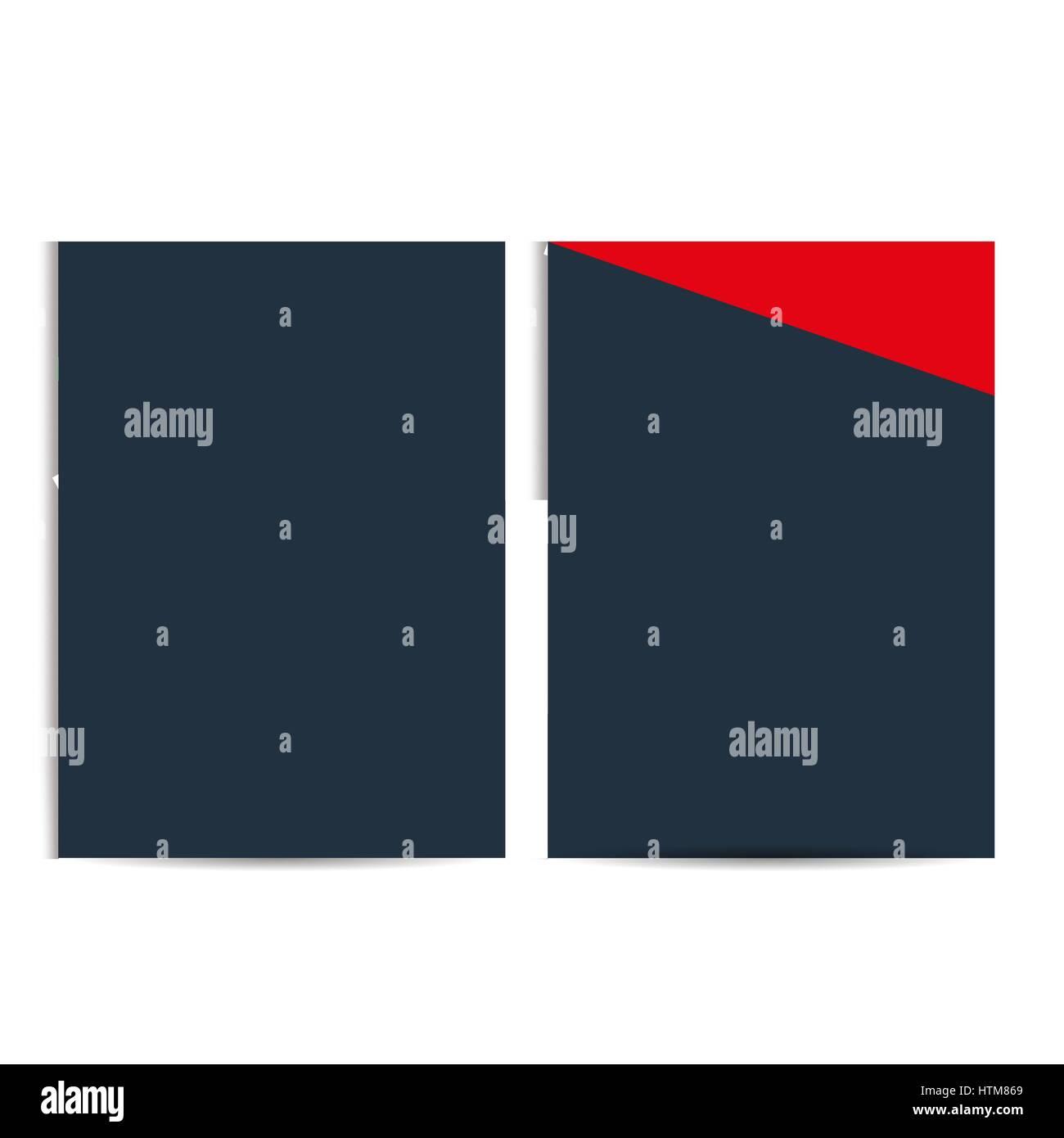 Brochure design, flyer template in formato A4, il Vettore, illustrazione Immagini Stock
