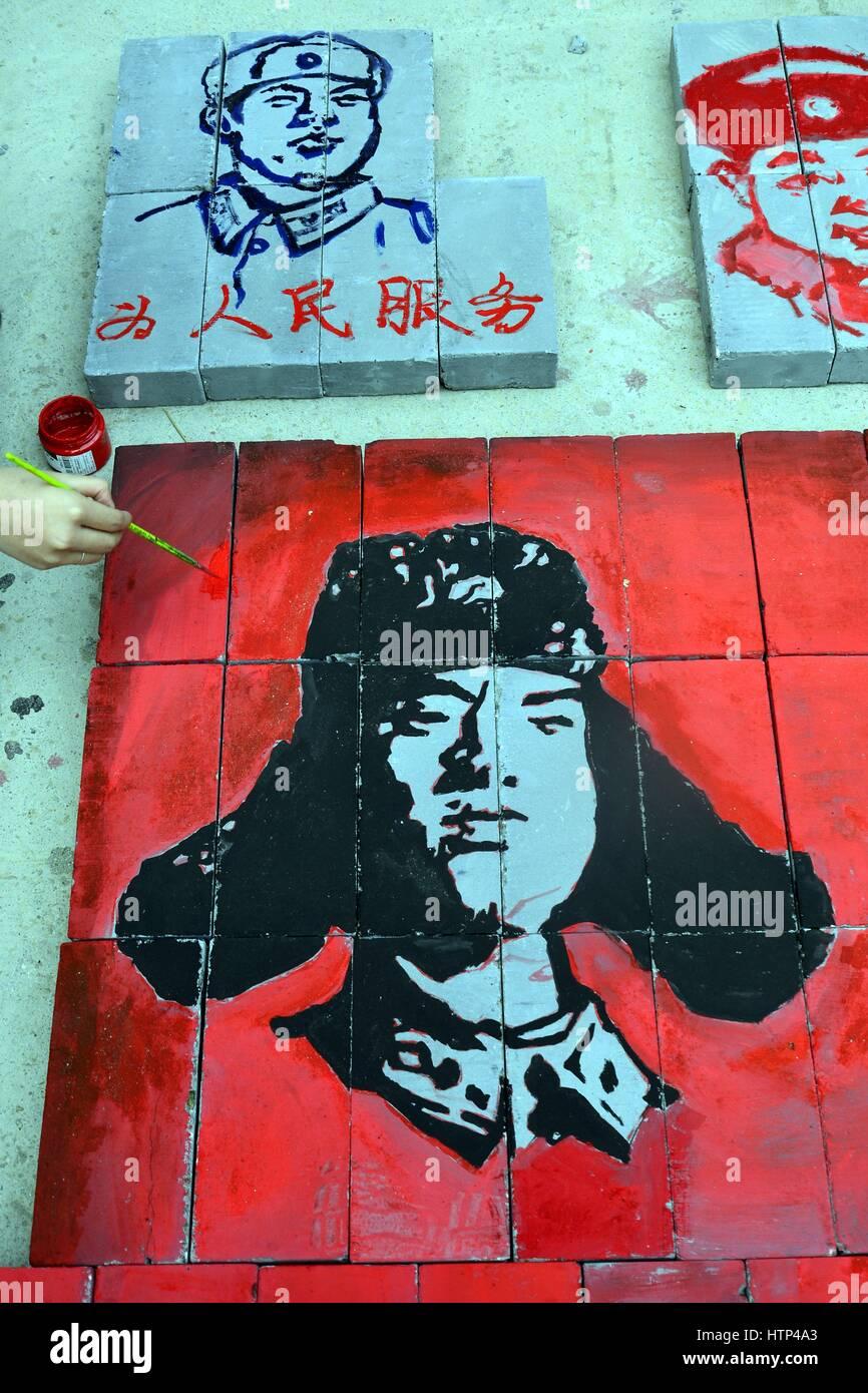 Liaochen, Liaochen, Cina. Xii Mar, 2017. Liaocheng, Cina-12 marzo 2017: (solo uso editoriale. Cina OUT) .volontari Immagini Stock