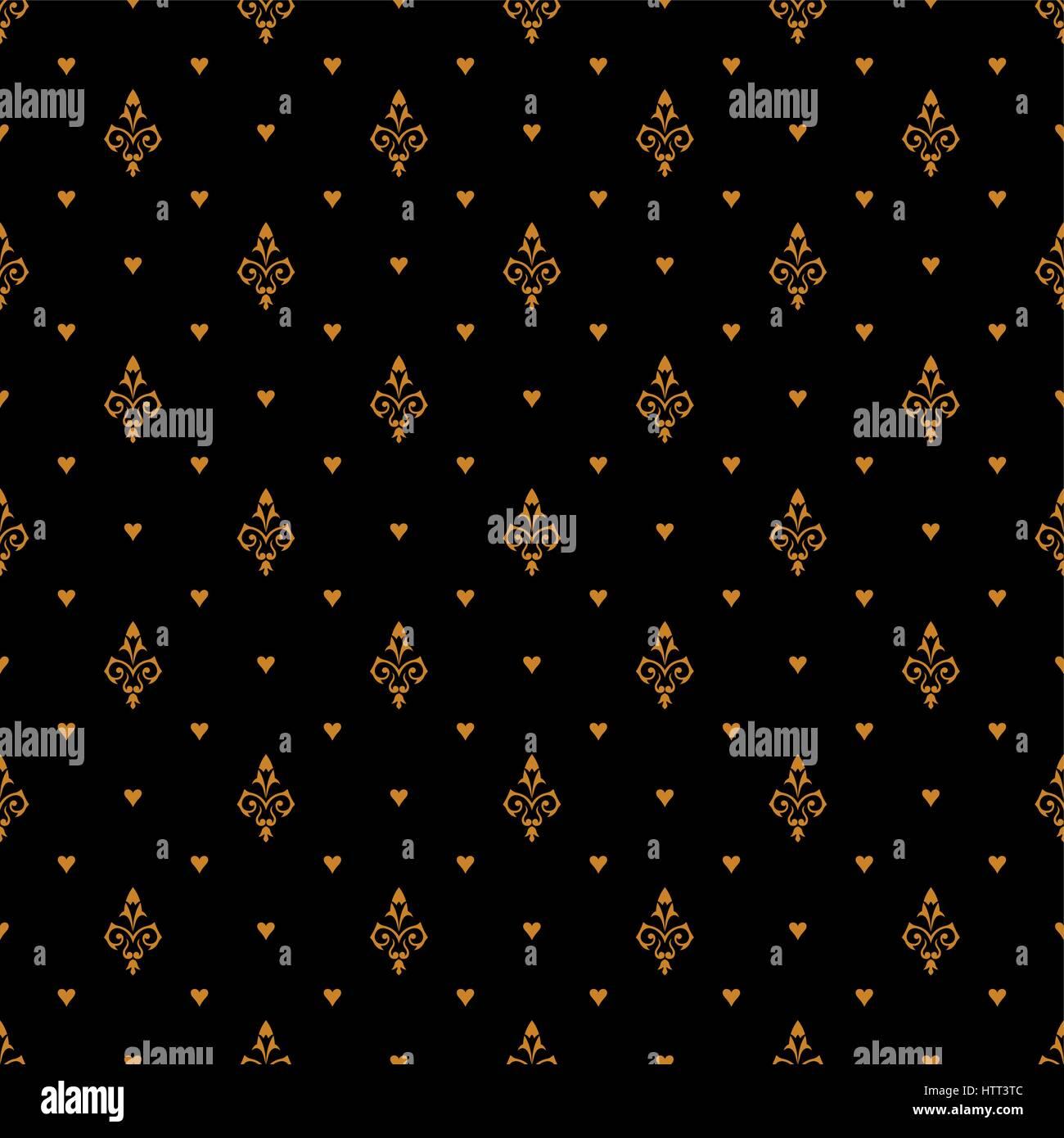 Vector seamless pattern. Luxury Gold texture. Pattern può essere utilizzata come sfondo, sfondo, involucro, Immagini Stock