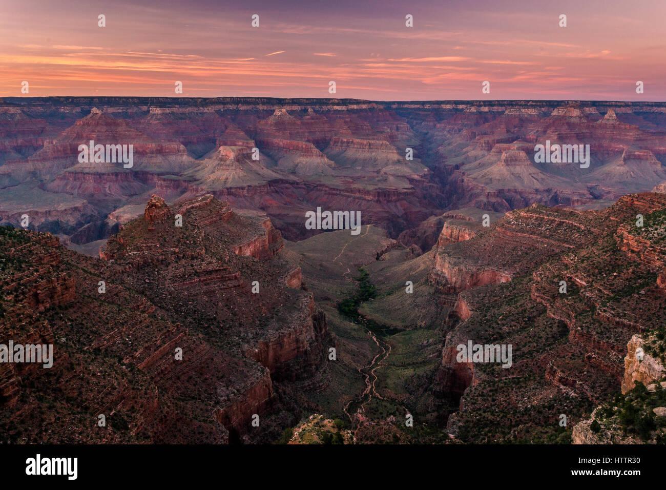 Superba Grand Canyon alba Immagini Stock