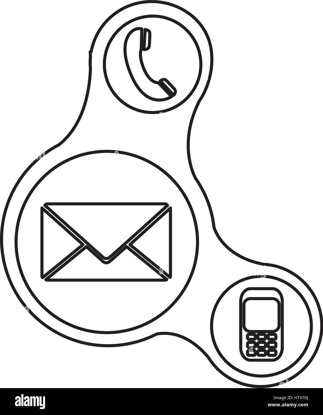 Pulsanti icone del servizio dati Immagini Stock
