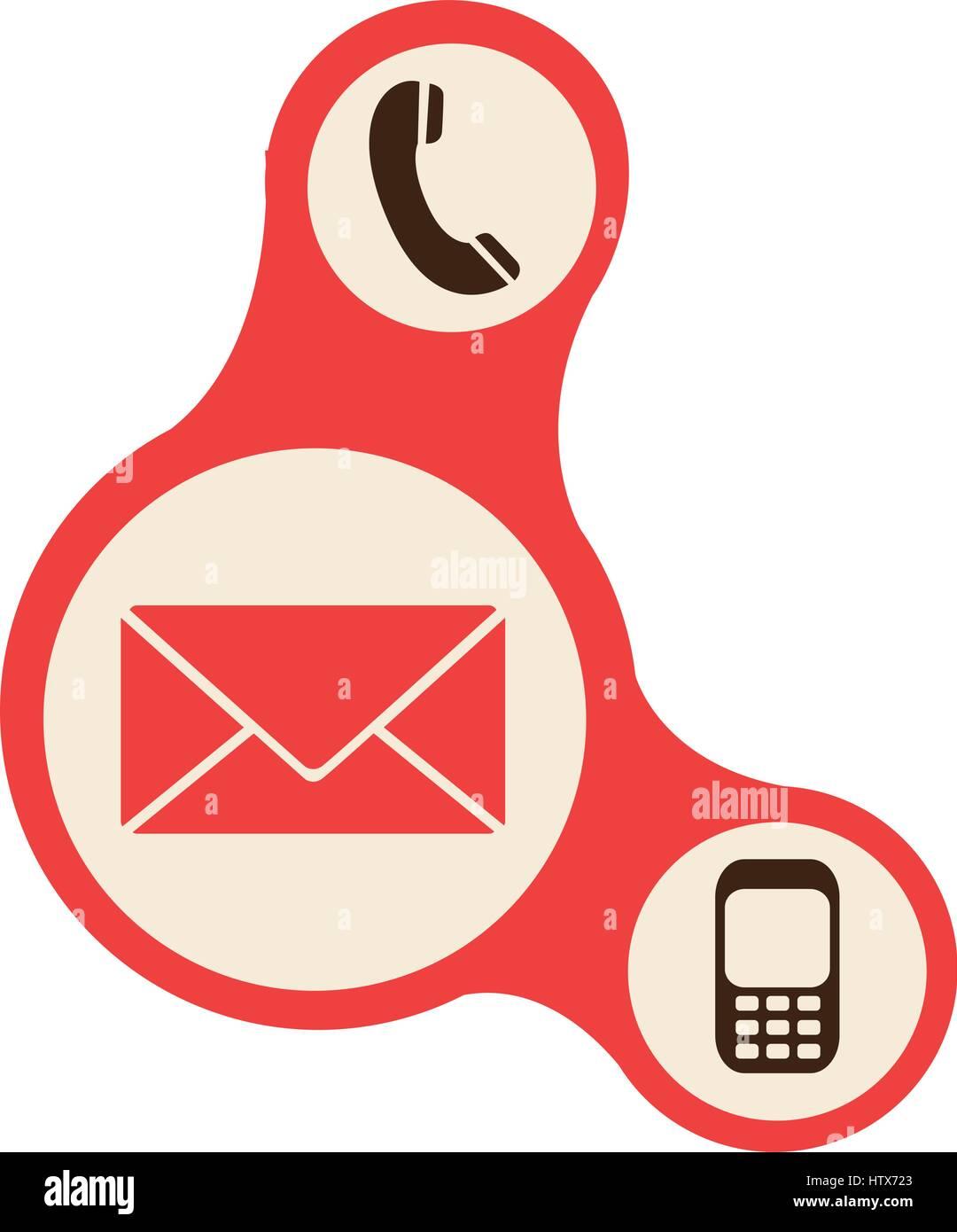 Pulsanti rossi icone del servizio dati Immagini Stock