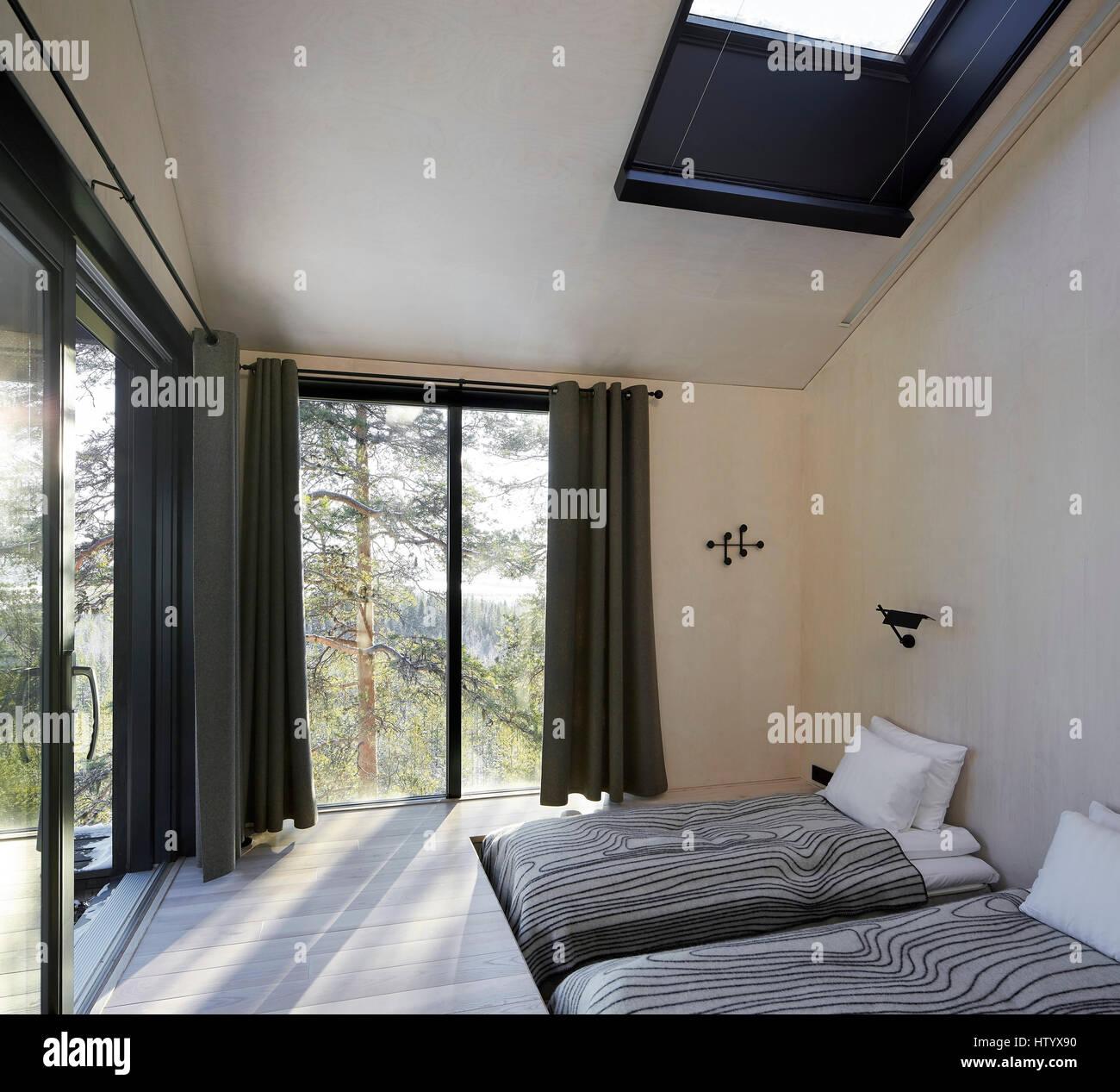 Camera Da Letto In Rodano Alberi Treehotel Harads Svezia