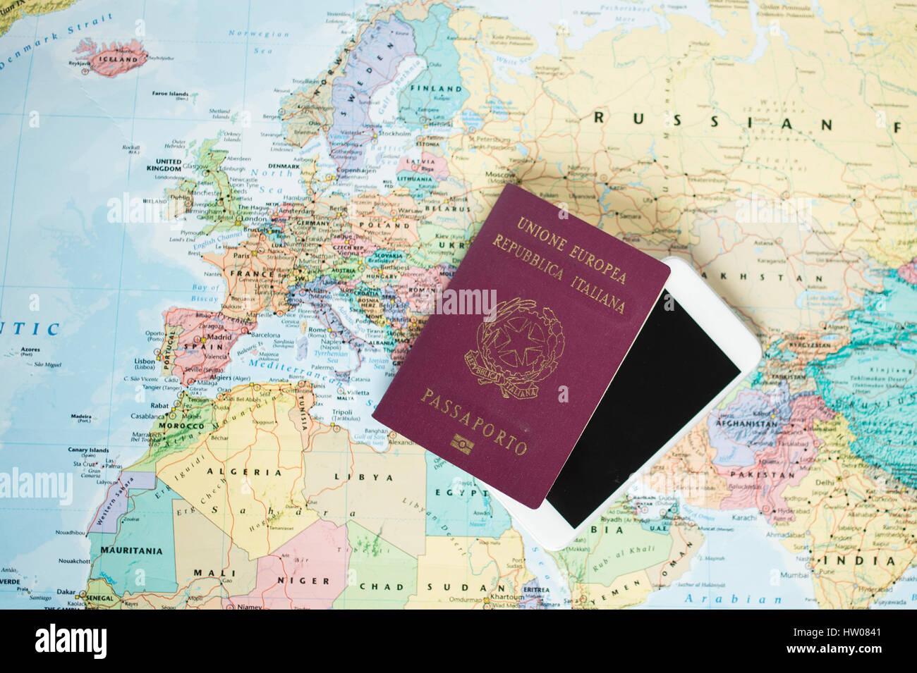 Piano Di Viaggio Concetto E Prepararsi Al Viaggio Passport