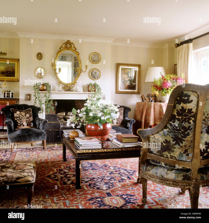 Stile classico soggiorno Foto & Immagine Stock: 135856336 - Alamy