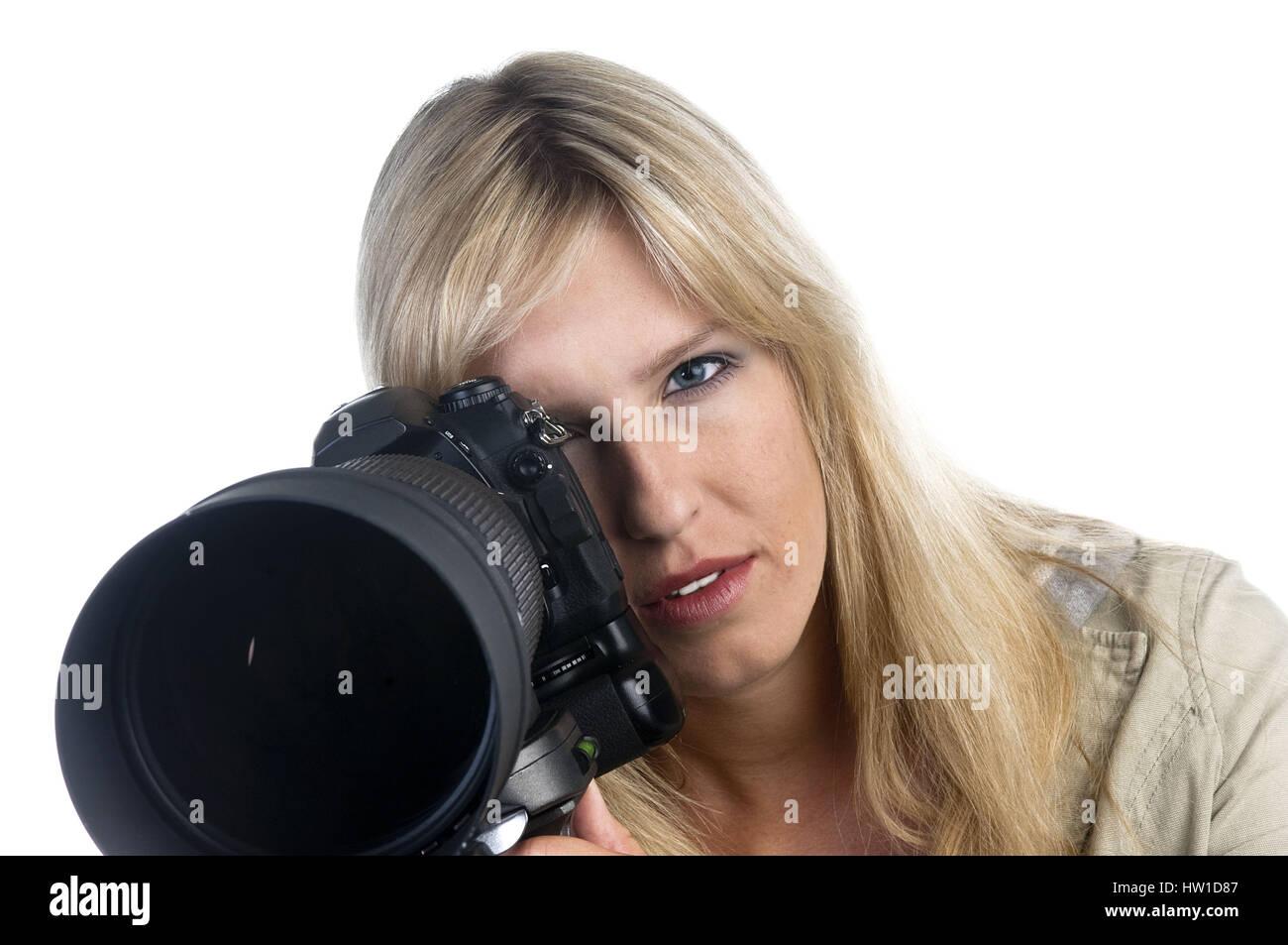 Fotografo, Fotografin Foto Stock