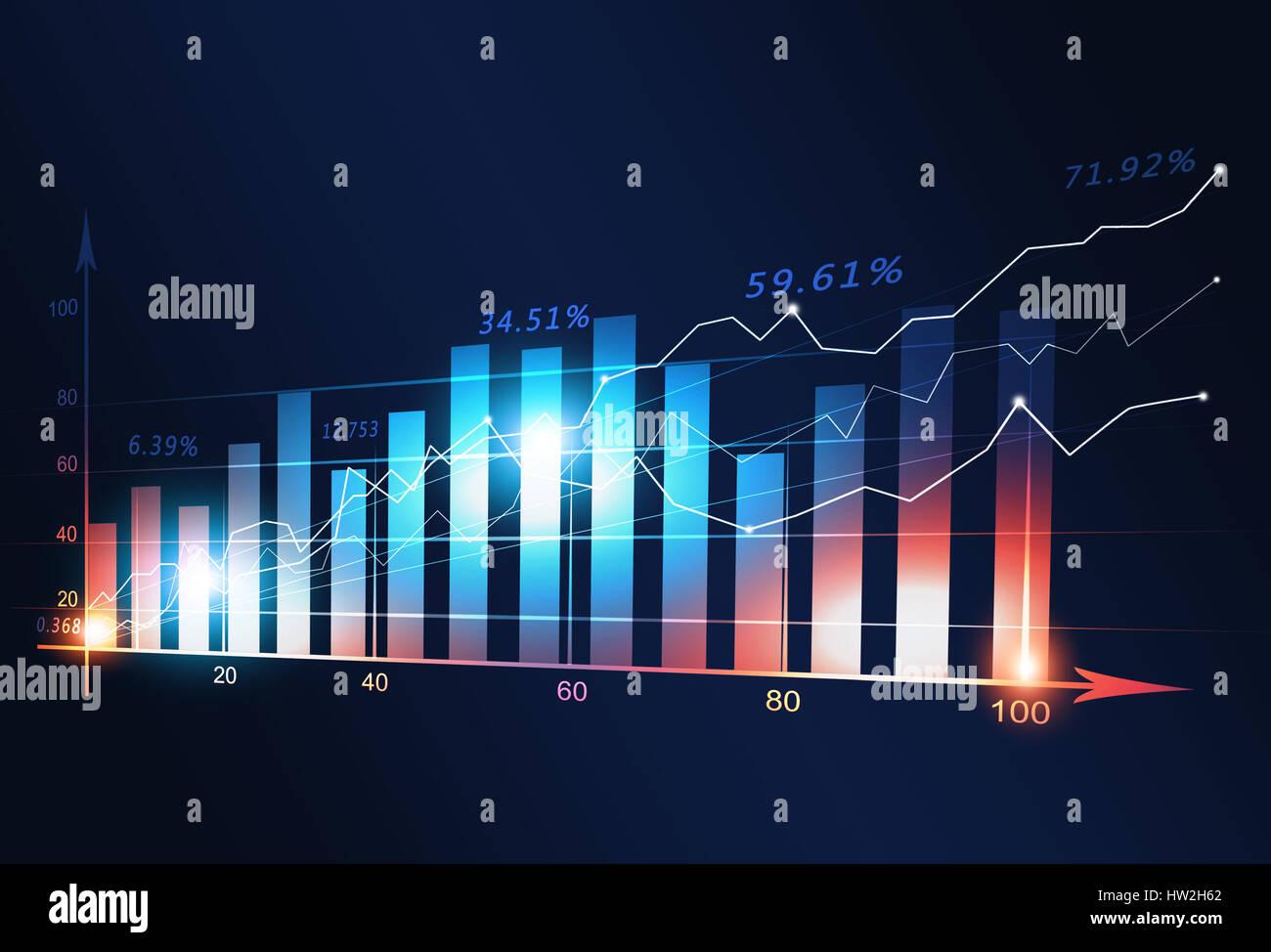 Concetto business finanza del mercato schema multicolore Immagini Stock