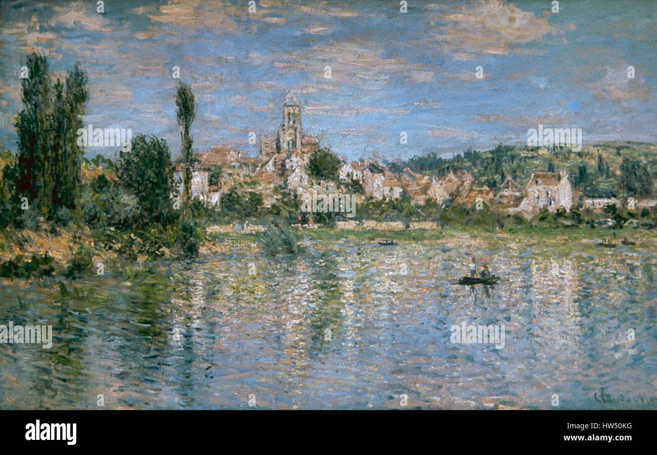 Claude Monet (1840-1926). Pittore Francese. Impressionismo. Vetheuil in estate. 1880. Olio su tela. Metropolitan Immagini Stock