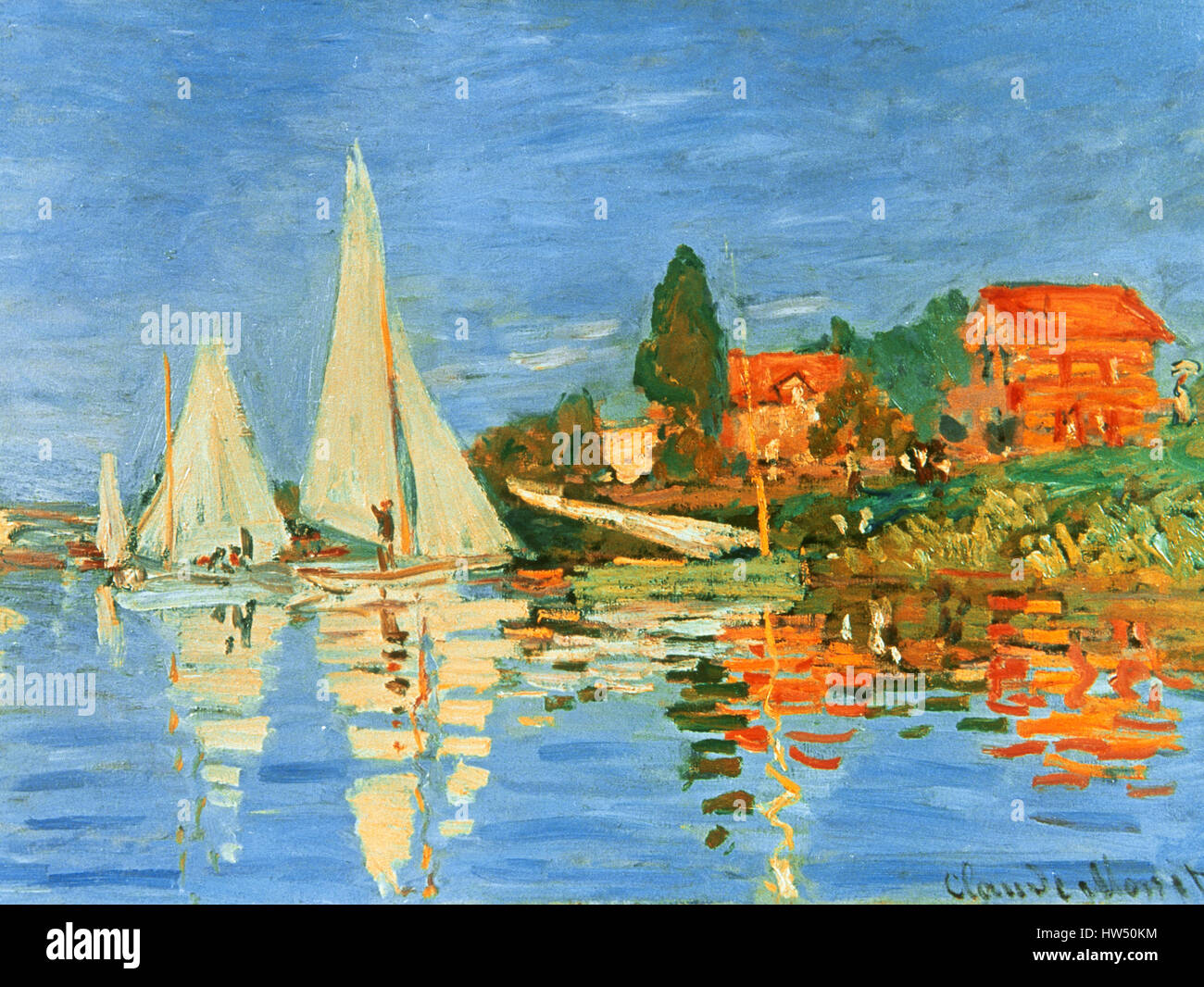 Claude Monet (1840-1926). Pittore Francese. Impressionismo movimento. Regate a Argenteuil. 1872. Il Museo d' Immagini Stock