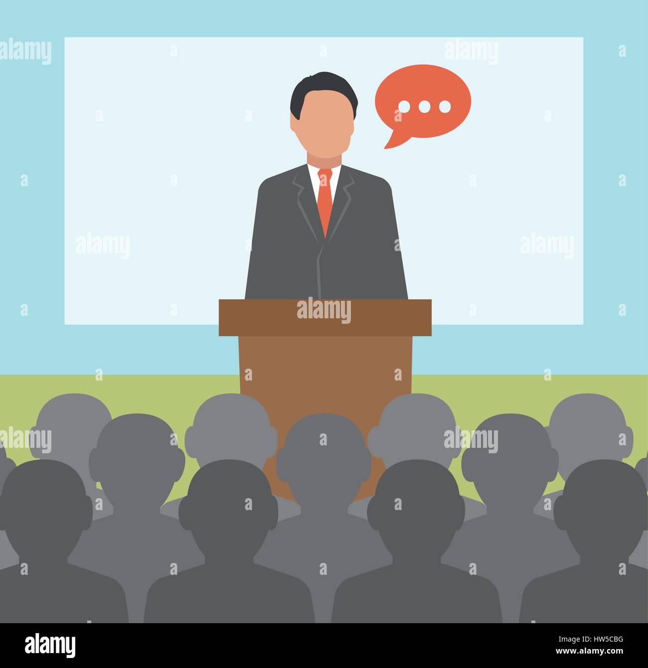 Conferenza. Concetto di illustrazione di business Immagini Stock