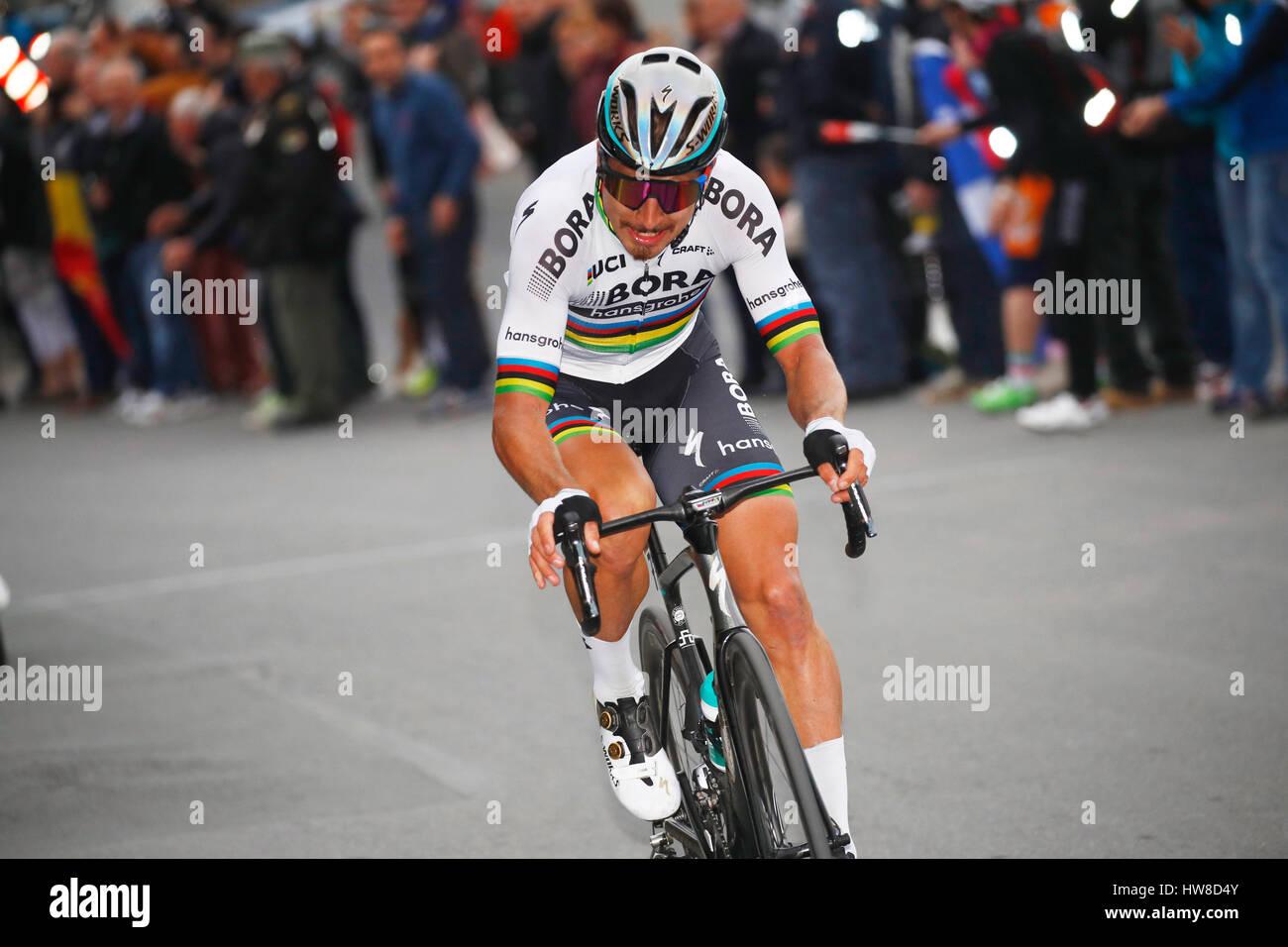 18 marzo 2017 108th Milano - Sanremo SAGAN Peter (SVK) Bora - Hansgrohe, a Poggio foto: Cronos/Yuzuru Sunada Foto Stock