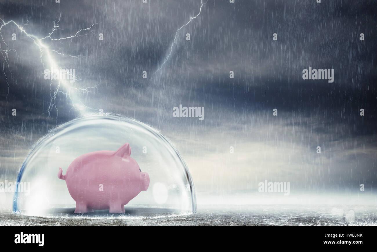 Proteggere le plusvalenze derivanti dalla crisi Immagini Stock