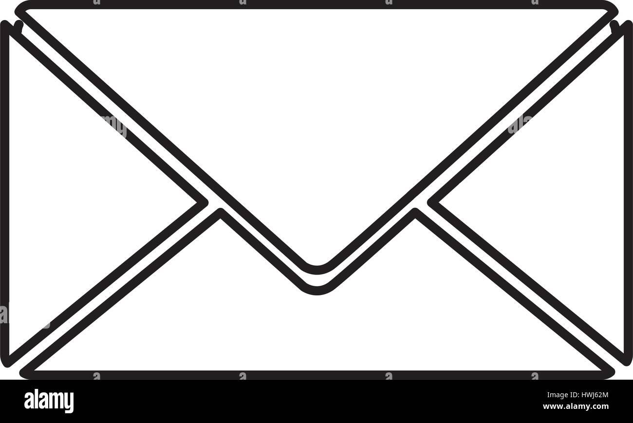 Lettera chiusa icona di messaggio Immagini Stock