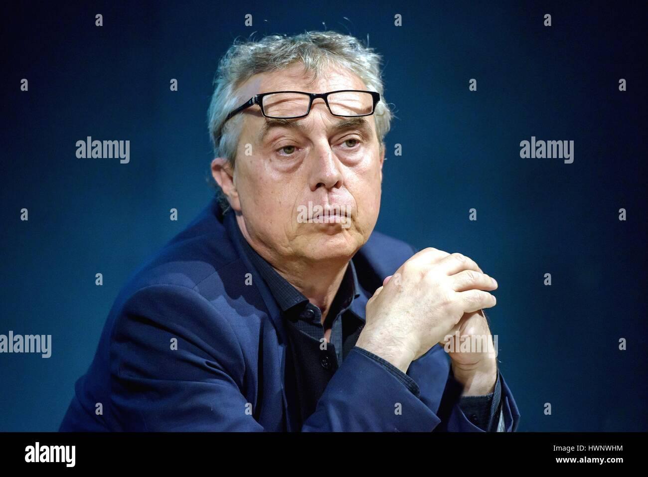 Architetto Stefano Boeri, progettista del grattacielo Bosco Verticale a Milano in occasione del Salone Internazionale Immagini Stock