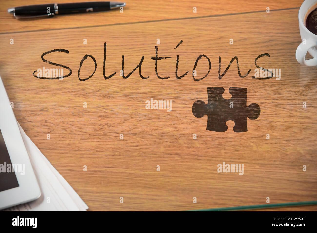Ufficio Scrivania Questionnaire : Puzzle pezzo su sfondo nero contro il sovraccarico di scrivania da