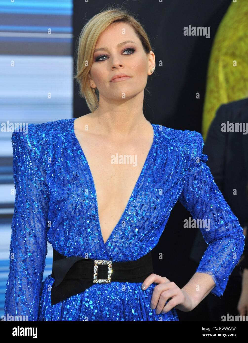 Los Angeles, California, USA. 22 Mar, 2017. Elizabeth banche presso gli arrivi per SABAN Power Rangers Premiere, Immagini Stock