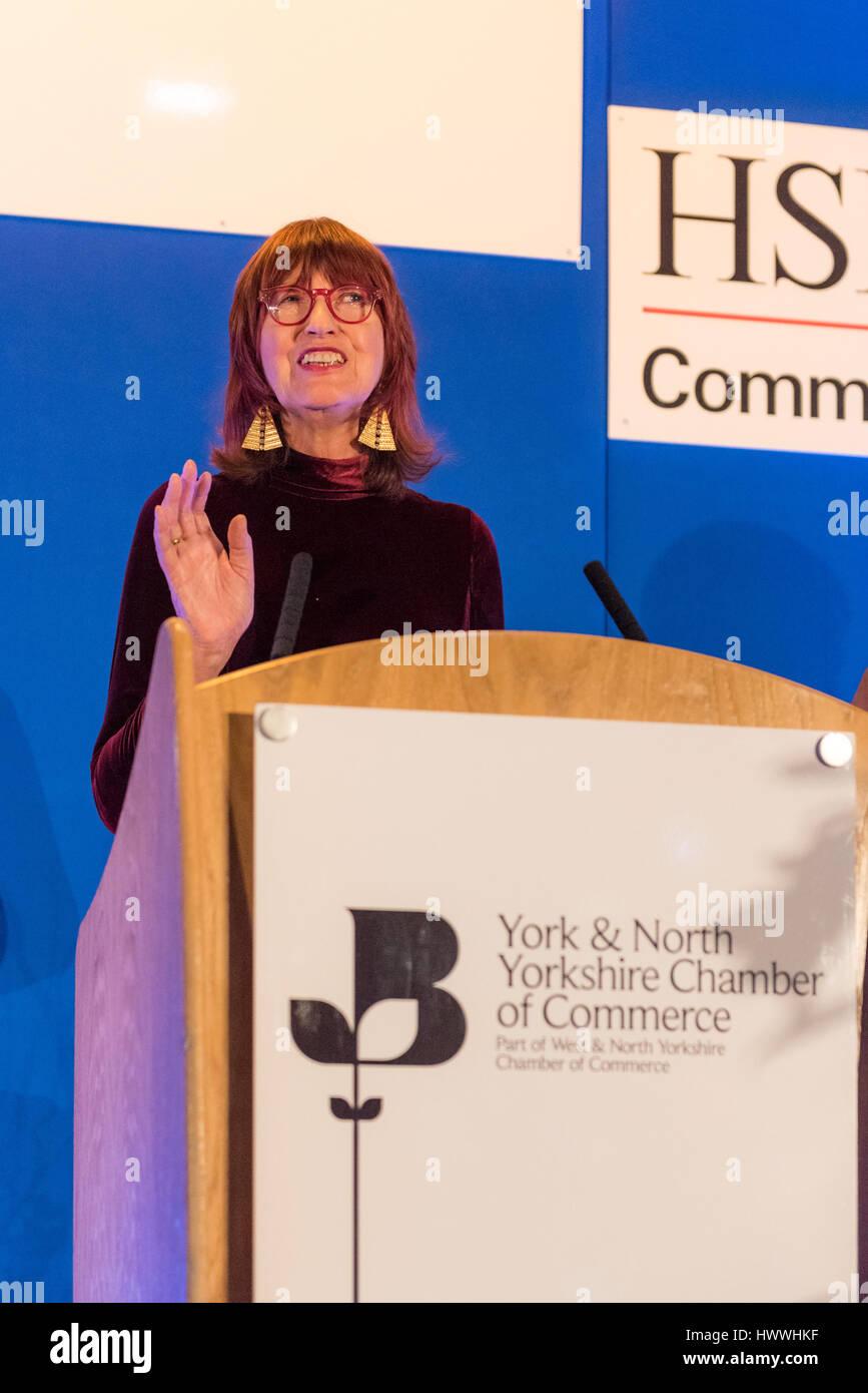 York, Regno Unito. 23 marzo, 2017. Janet Street-Porter CBE, inglese celebrity, media personalità, giornalista Immagini Stock