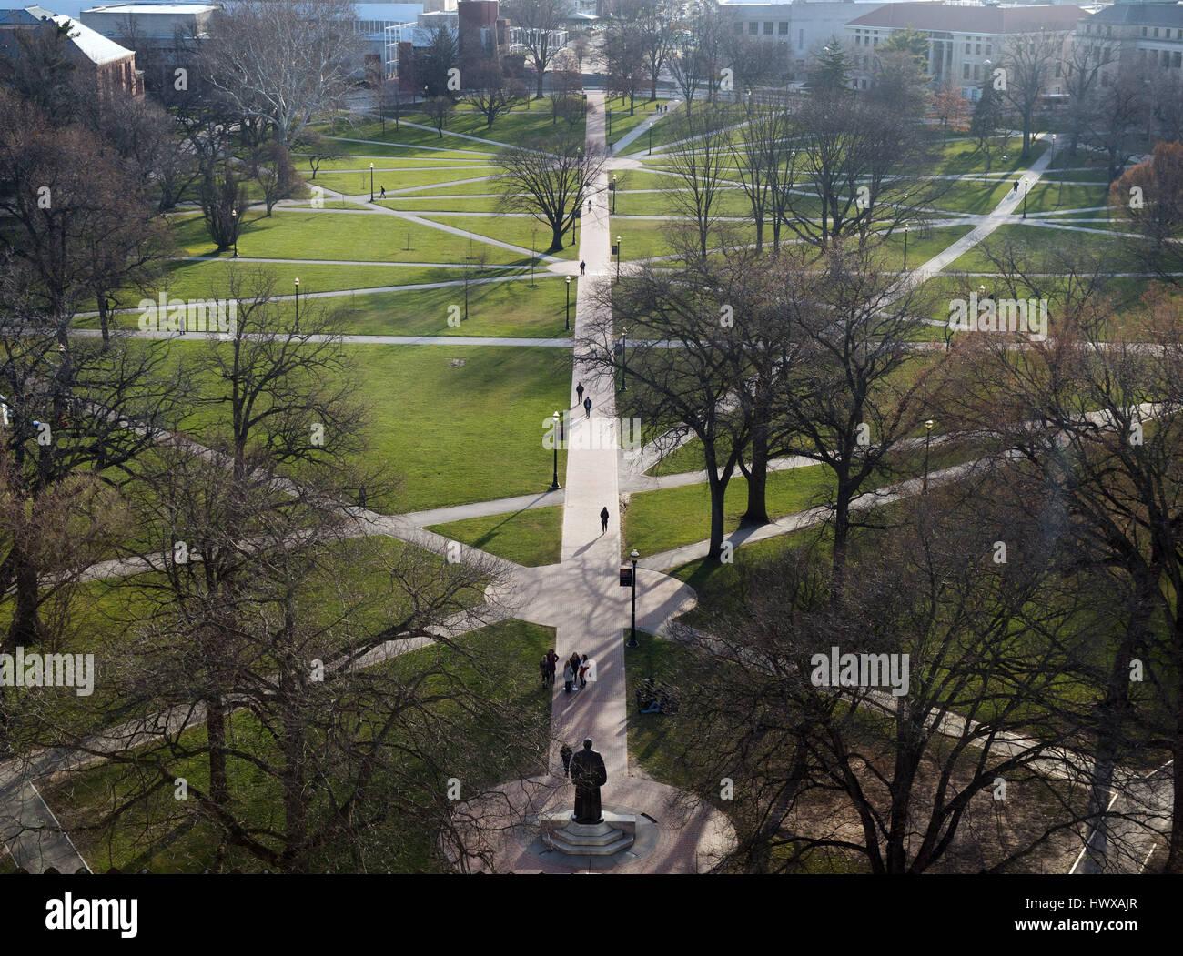Marzo 23, 2017: ovale compagnia presso la Ohio State University. Columbus, Ohio. Brent Clark/Alamy Live News Immagini Stock
