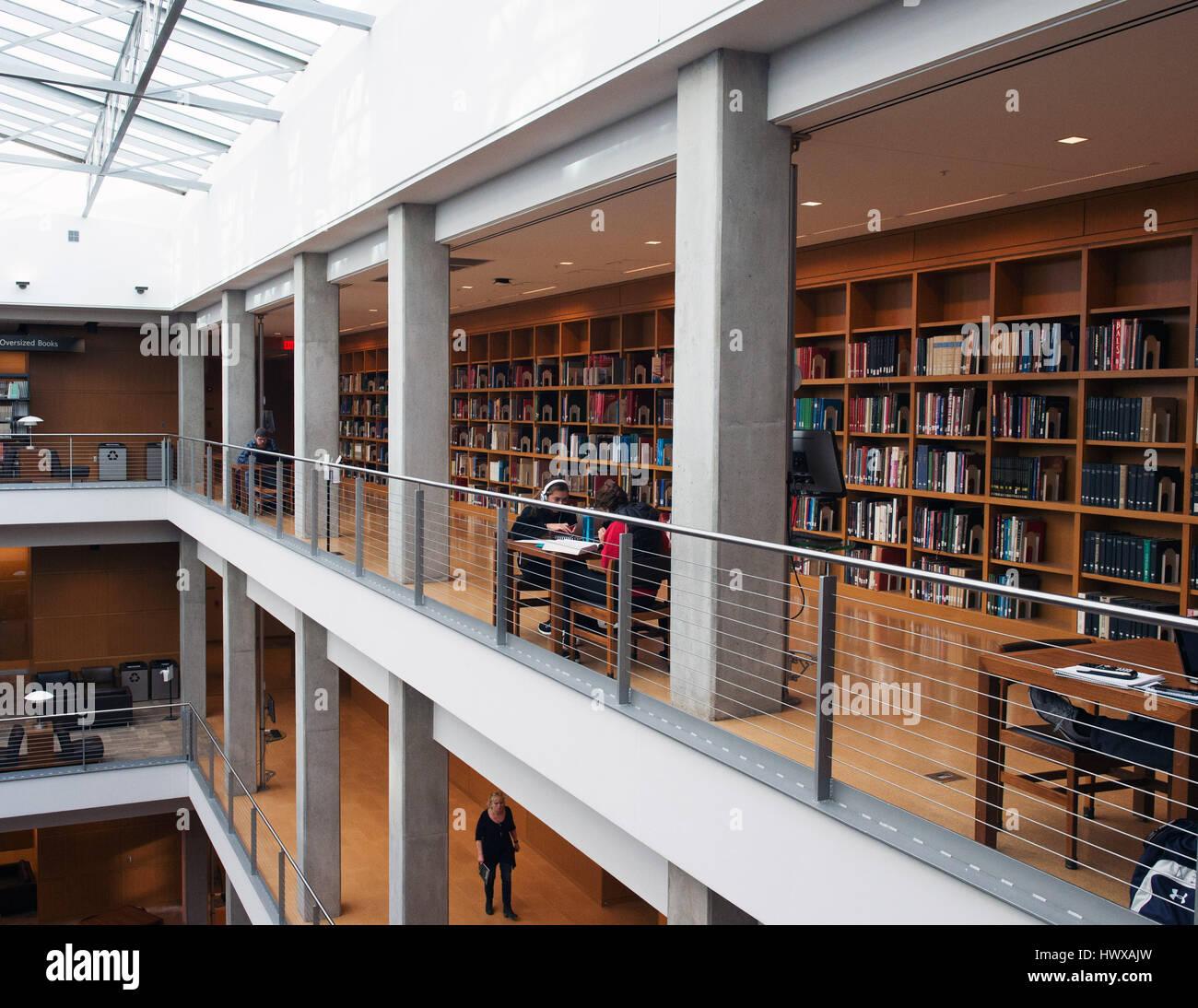 23 marzo 2017: La Ohio State University Library alla Ohio State University. Columbus, Ohio. Brent Clark/Alamy Live Immagini Stock