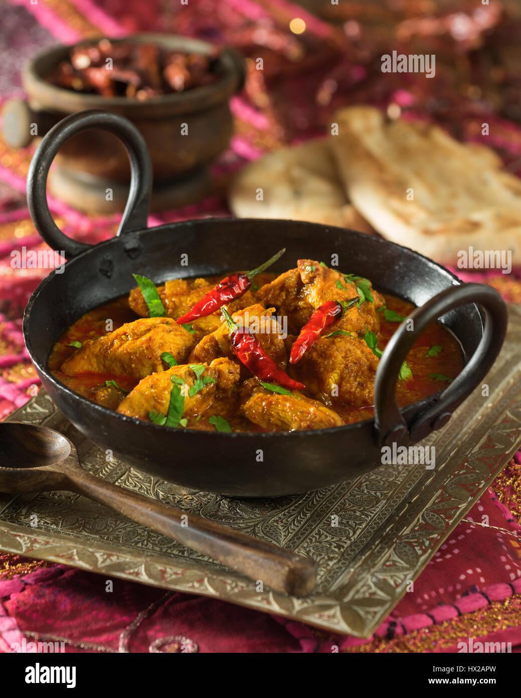 Pollo Kolhapuri. A sud-ovest dell'India Maharashtra cibo Immagini Stock