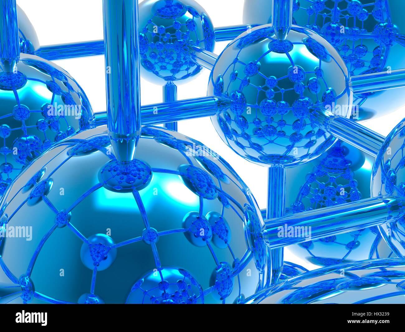 Molecola generico, computer grafica. Immagini Stock