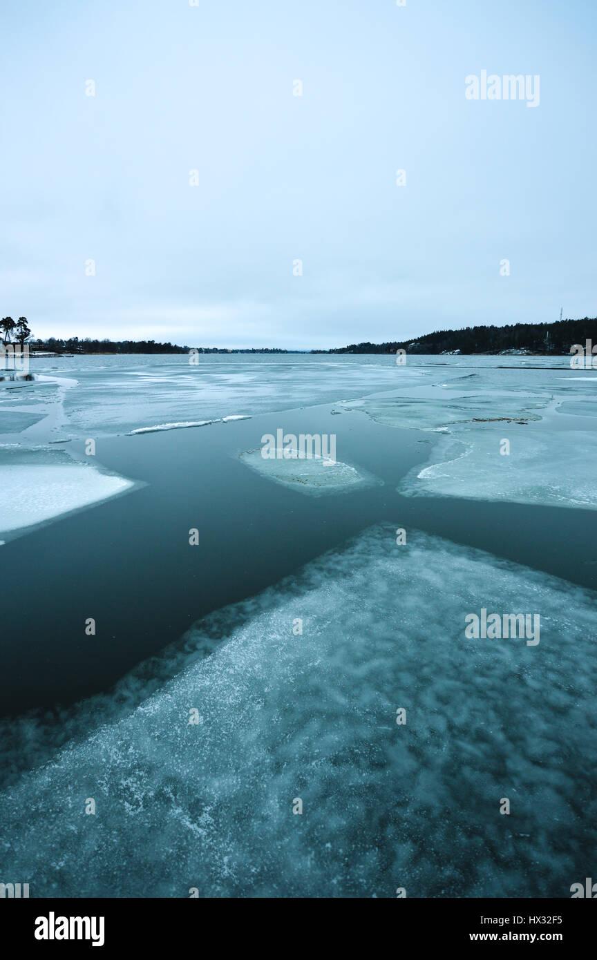 Il riscaldamento globale la fusione del ghiaccio Immagini Stock