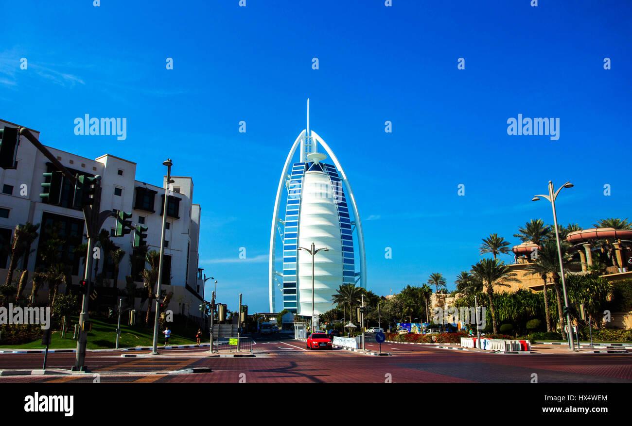 Il Burj Al Arab di Dubai, Emirati Arabi Uniti Immagini Stock
